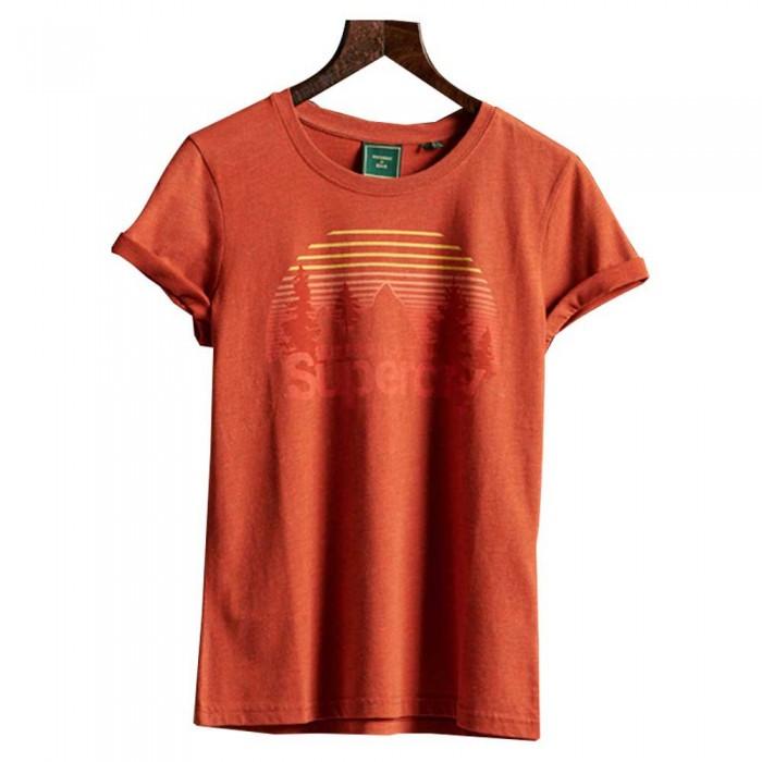 [해외]슈퍼드라이 코어 로고 와일드erness Sierra Orange Marl