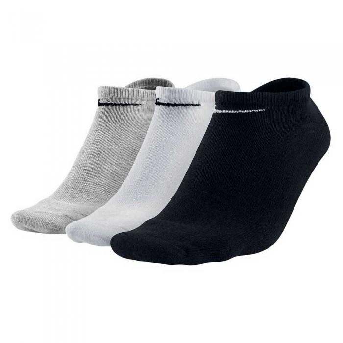 [해외]나이키 Value 노 쇼 3 Pairs Grey Heather / Black / White