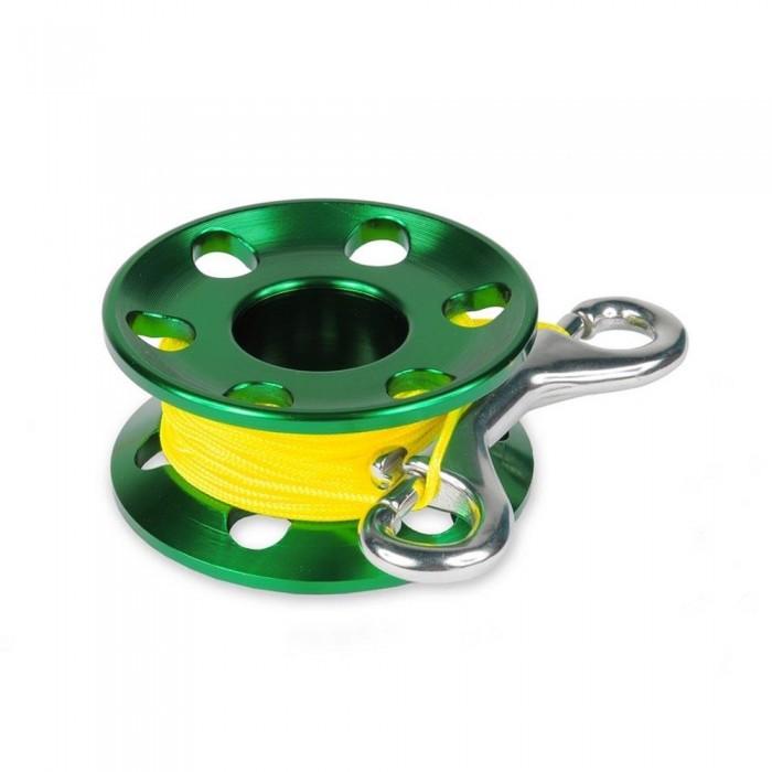 [해외]BEST DIVERS Aluminium Reel Tech 1.5 mm 15 M 10136415696 Green / Yellow