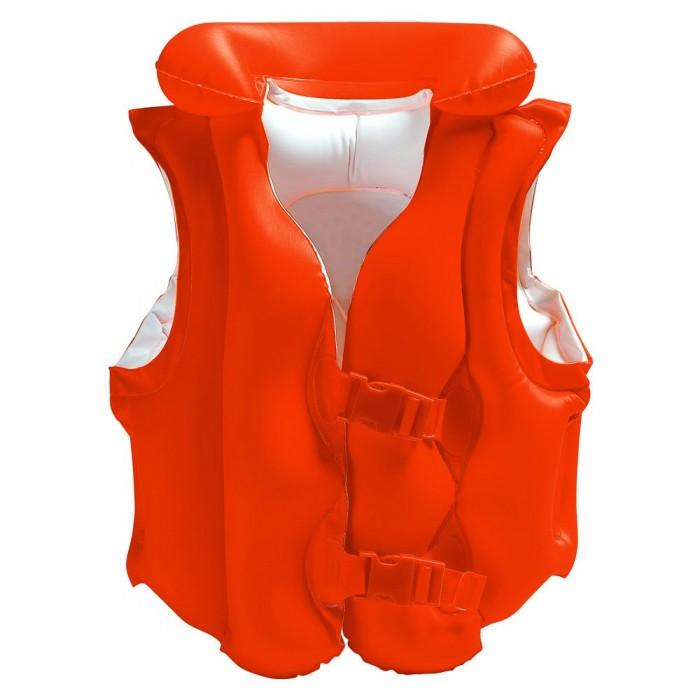 [해외]인텍스 Inflatable Orange Life Jacket With Buckles - 50X47 Cm 6137566141 Orange