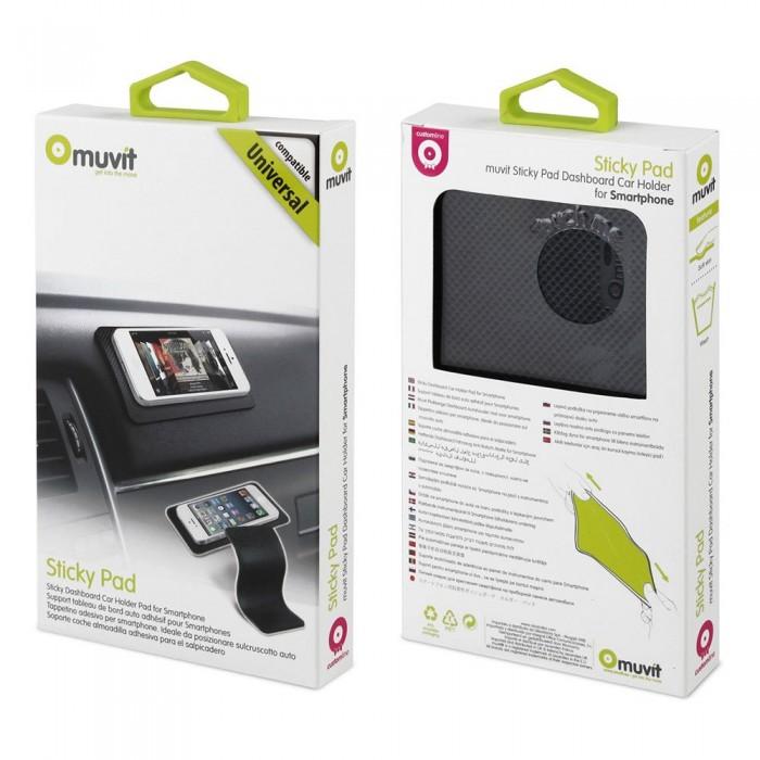[해외]MUVIT Anti-slip Pad Universal Mobile Car Support 14137555687 Black