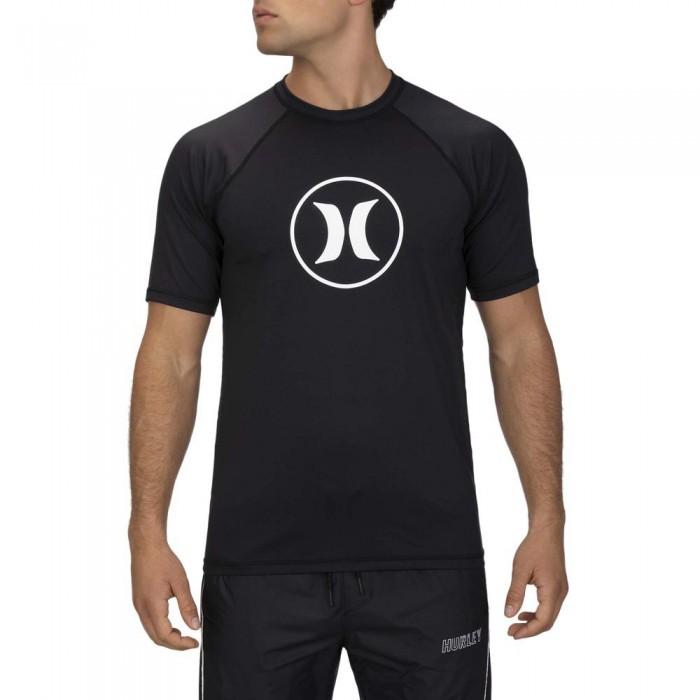 [해외]헐리 아이콘 래글런 Surf 셔츠 Black