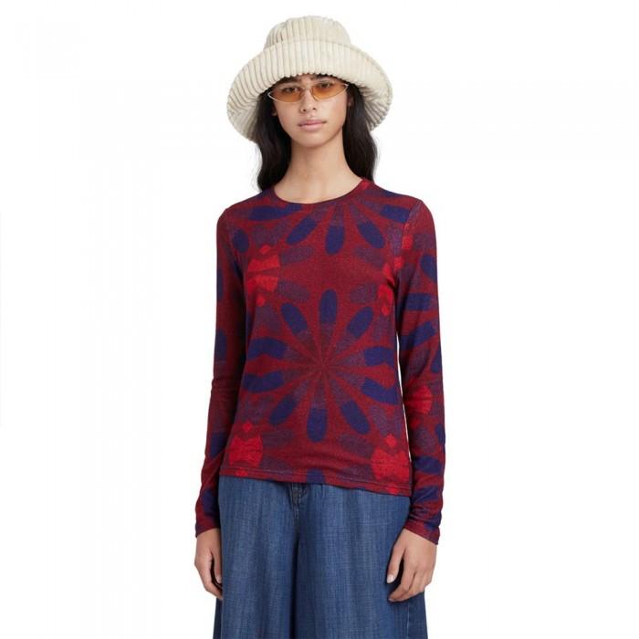 [해외]데시구알 Margarita Long Sleeve T-Shirt Burgundy