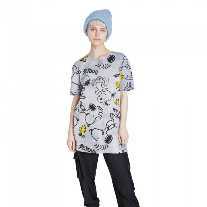 [해외]데시구알 Snoopy Short Sleeve T-Shirt Silver Grey