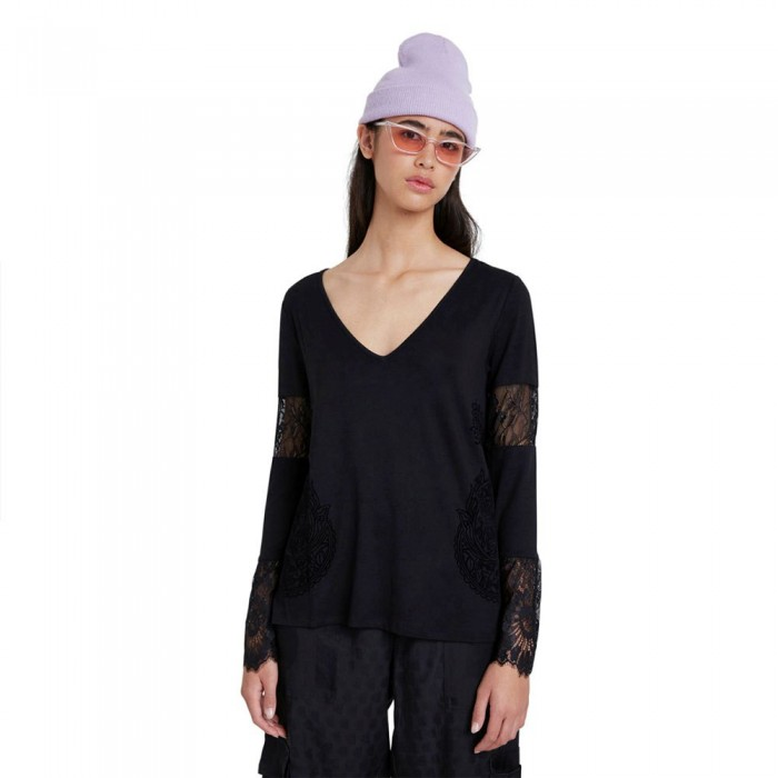 [해외]데시구알 Amelia Long Sleeve T-Shirt Black