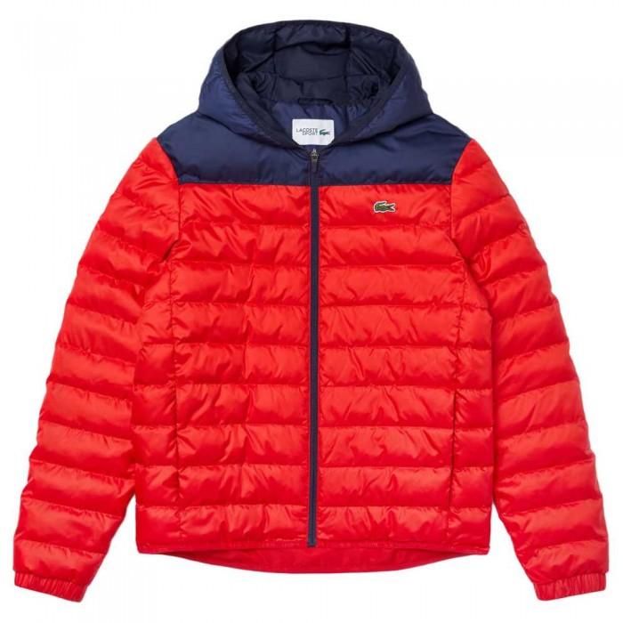 [해외]라코스테 Sport Hooded Water-Resistant Quilted 12137648495 Red / Navy Blue