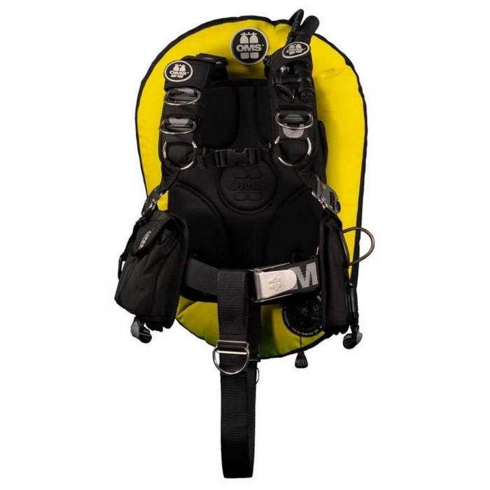 [해외]OMS Aluminum Comfort Harness III Signature With Performance Mono Wing 27 Lbs 10137602014 Speed Yellow / Black