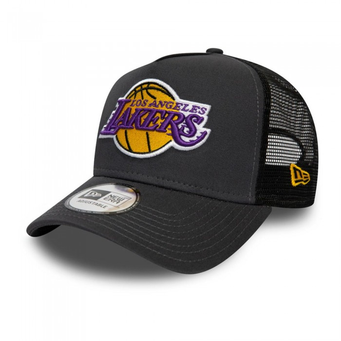 [해외]뉴에라 Dark Base Team Trucker Los Angeles Lakers Grey Heather