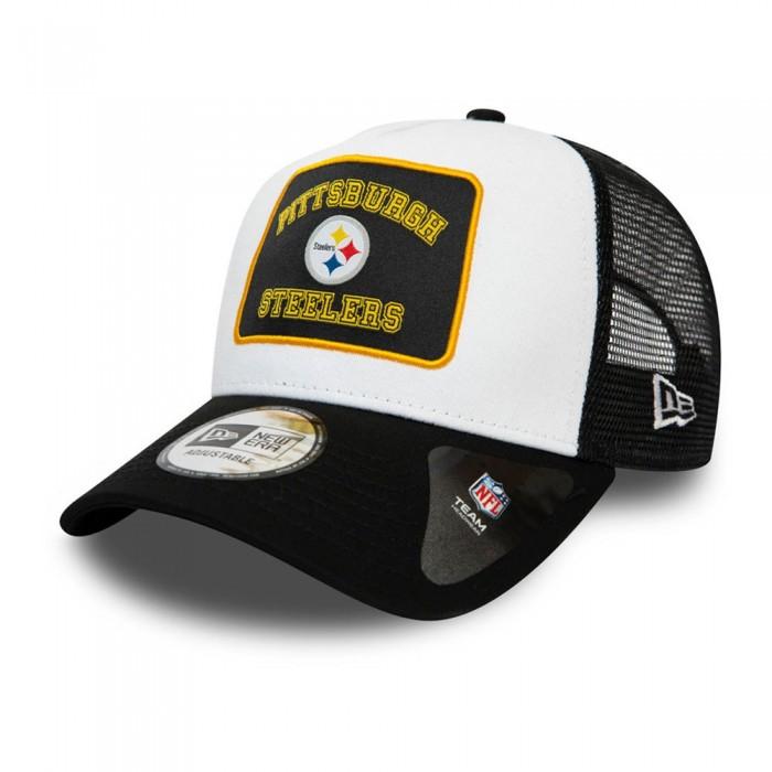 [해외]뉴에라 Graphic Patch Trucker Pittsburgh Steelers Black