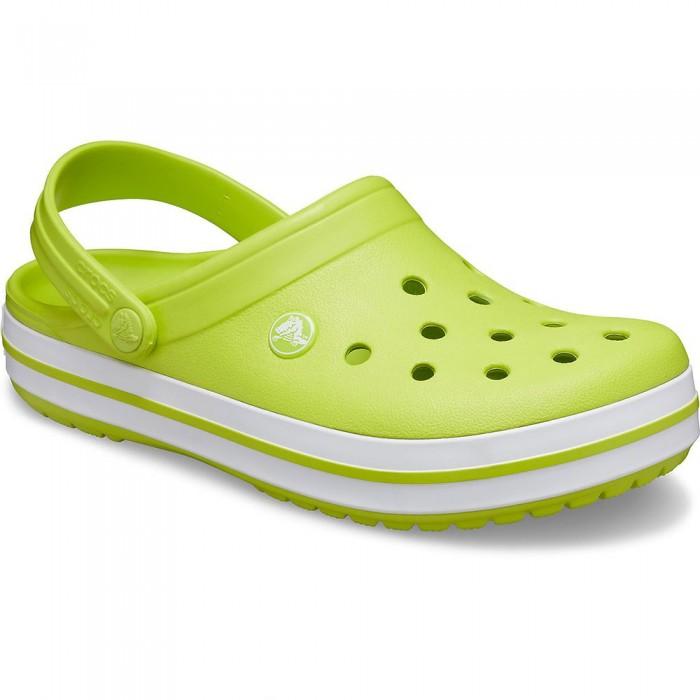 [해외]크록스 Crocband Man6137684574 Lime Punch / White