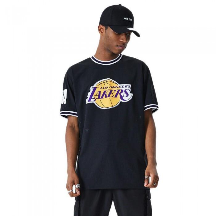 [해외]뉴에라 NBA Oversized Applique Los Angeles Lakers Black
