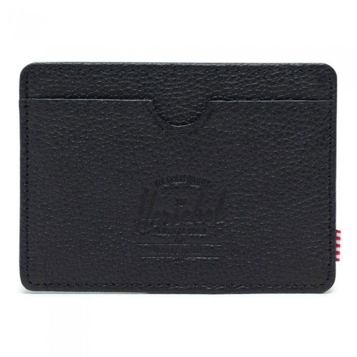 [해외]허쉘 Charlie Leather RFID 137165418 Black Pebbled Leather