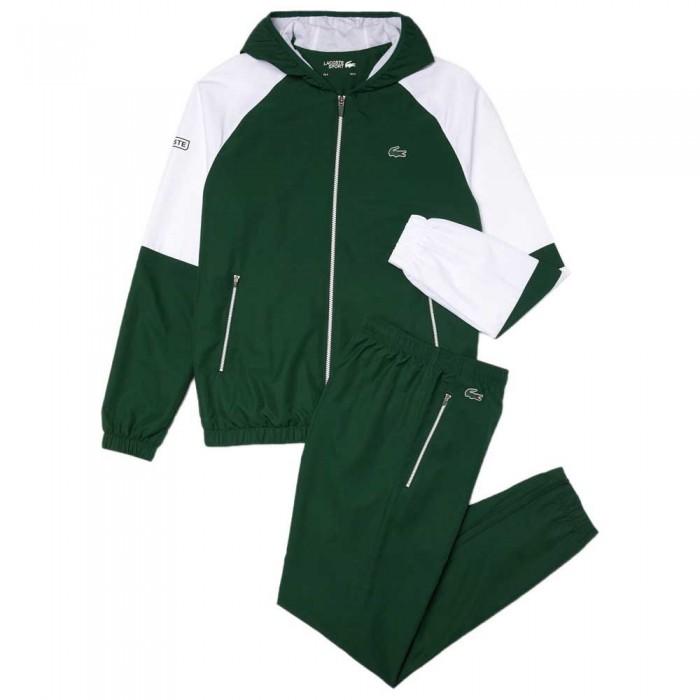 [해외]라코스테 Sport Lightweight Colourblock 7137685352 Green / White / Green / Green