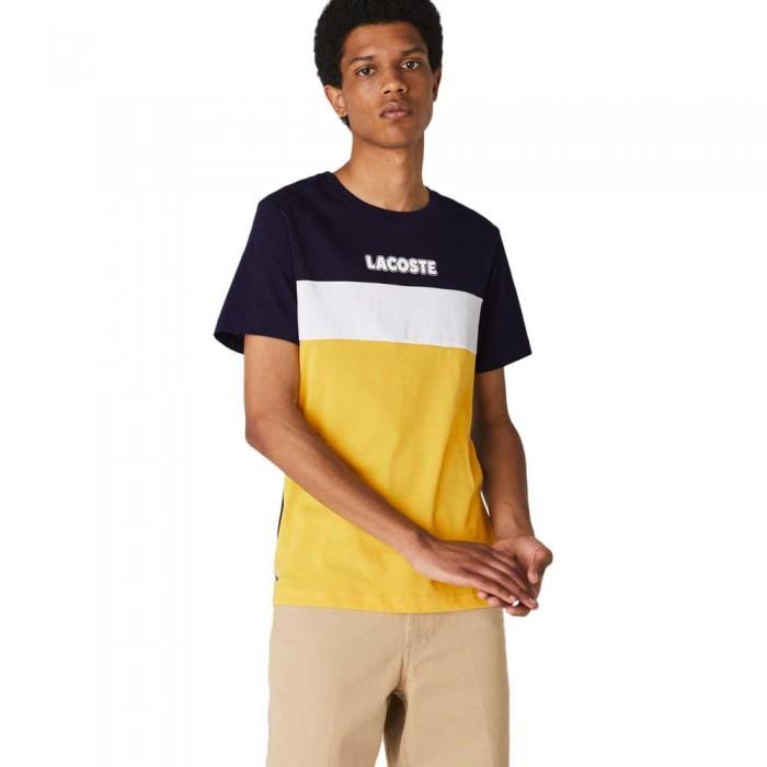[해외]라코스테 Sport Colourblock Cotton Blend 137685318 Navy Blue / Yellow / White