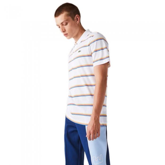 [해외]라코스테 Sport Striped Lightweight Cotton 137685389 White / Blue / Red