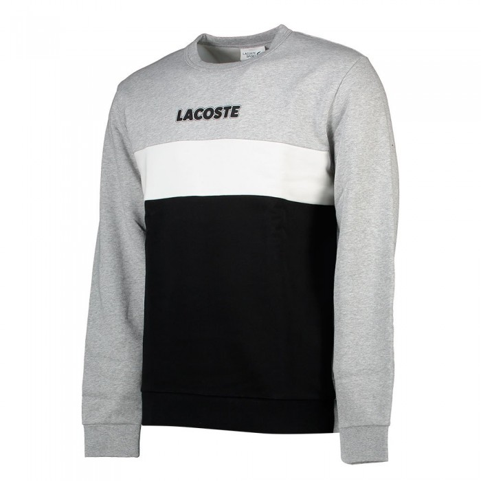 [해외]라코스테 Sport Colourblock 137648570 Argent Chine / Noir-Blanc