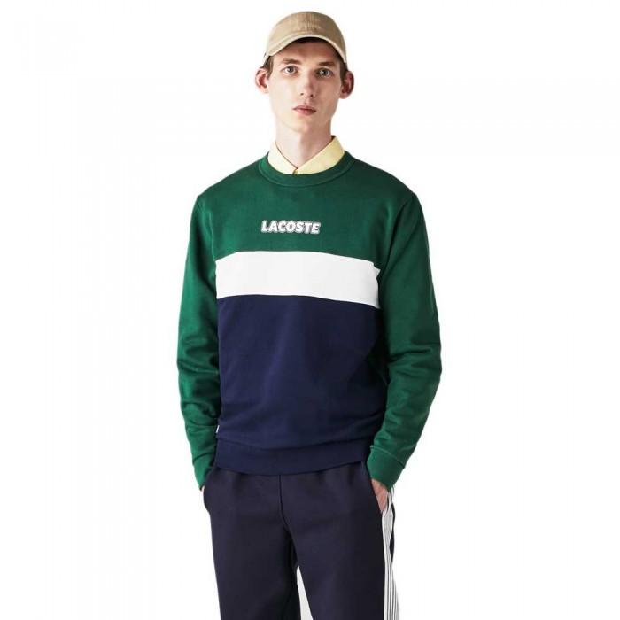 [해외]라코스테 Sport Crew Colourblock 137685225 Green / Navy Blue / White