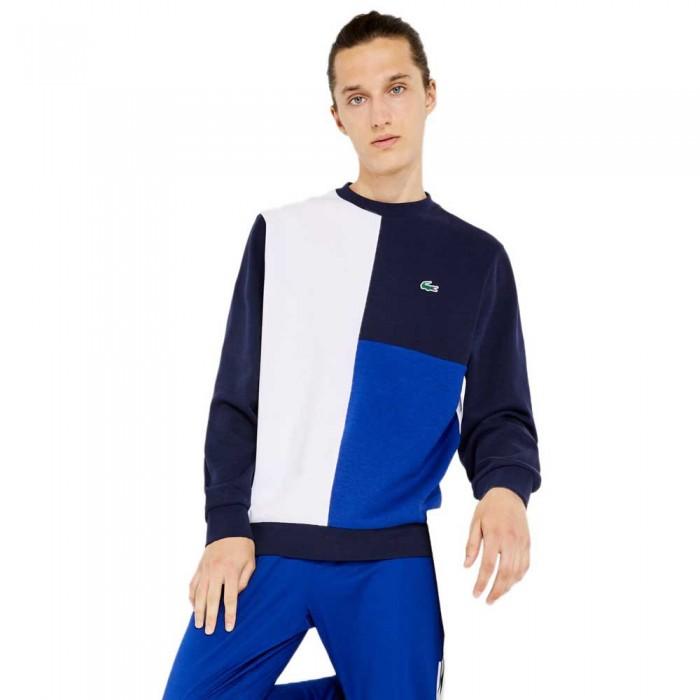 [해외]라코스테 Sport Two Ply Colourblock Cotton Blend 137685243 White / Navy Blue / Blue