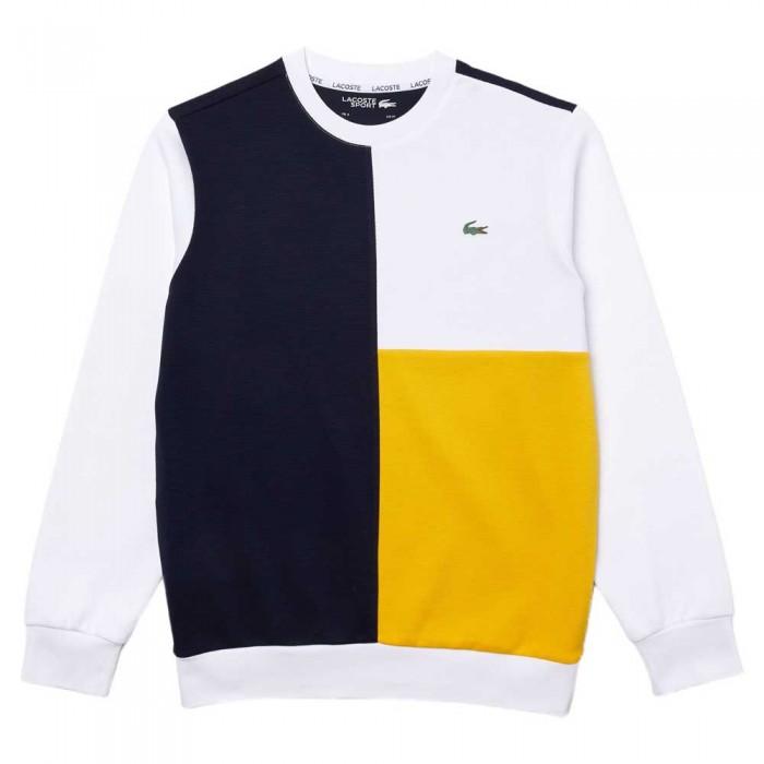 [해외]라코스테 Sport Two Ply Colourblock Cotton Blend 137685245 Navy Blue / White / Yellow