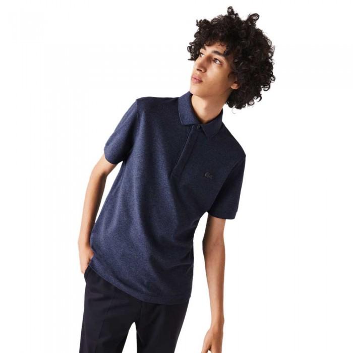 [해외]라코스테 Paris Regular Fit Stretch Cotton Pique 137685117 Blue Chine
