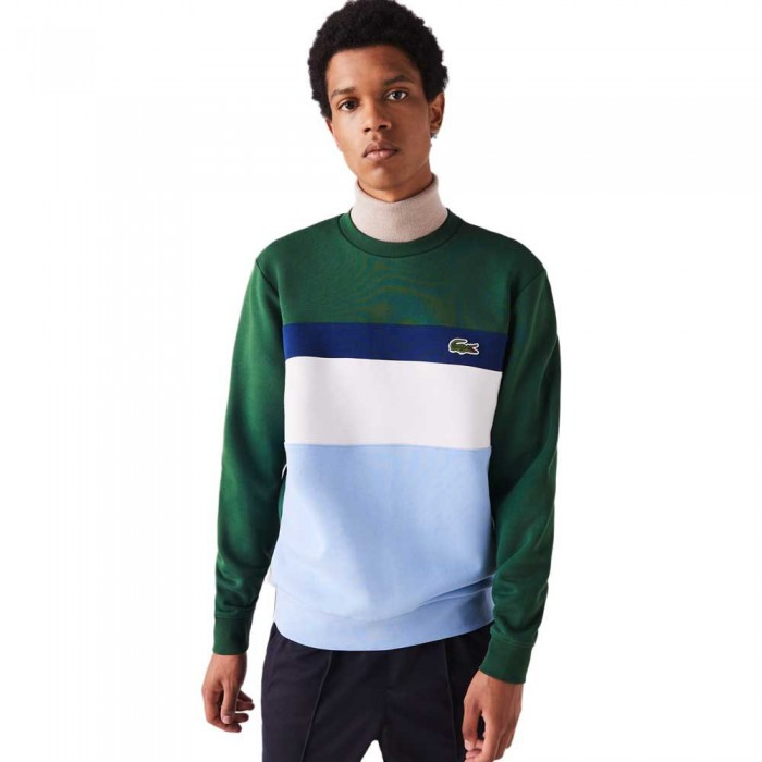 [해외]라코스테 Colourblock Crew 137685247 Blue / White / Blue / Green