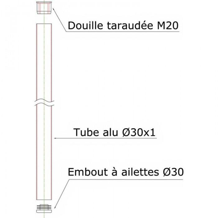 [해외]AMIAUD Raw Aluminium Handle M20 Thread L. 100 cm 10137682987
