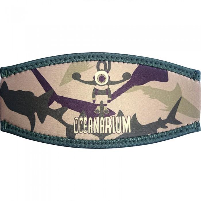 [해외]OCEANARIUM Mask Strap Cover 10137681011 Khaki Camo Sharks