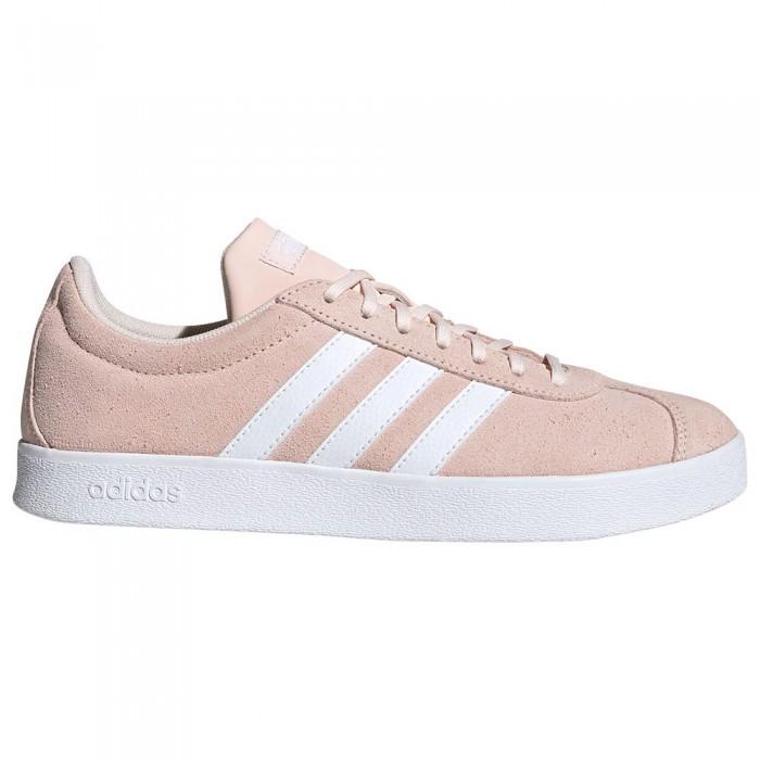 [해외]아디다스 Vl Court 2.0 Woman14137668607 Pink Tint / Ftwr White / Dove Grey