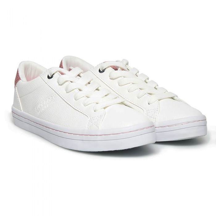 [해외]슈퍼드라이 Skater Sleek Lo Woman136840514 Optic White / Pink