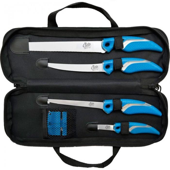 [해외]CUDA Cuda Knife Set With Sharpener & Case (18830/18831/18833/18834) 137689115