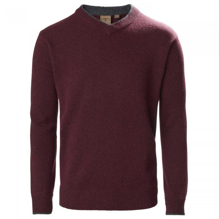 [해외]무스토 Country V Knit 137651963 Oxblood