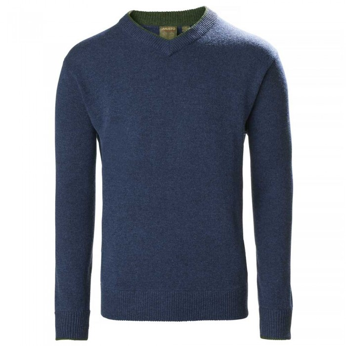 [해외]무스토 Country V Knit 137651965 Dark Cobalt