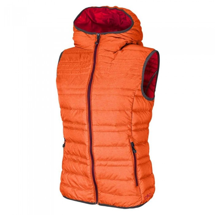 [해외]CMP Vest Fix Hood 61263727 Orange Pop Melange / Campari Melange