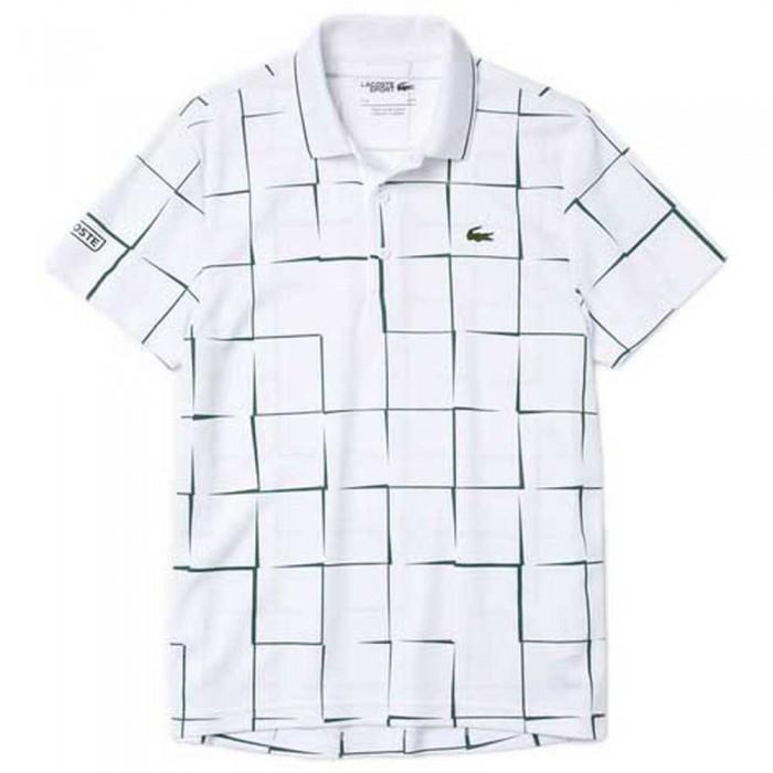 [해외]라코스테 Sport Breathable Print Pique 7137685028 White / Green