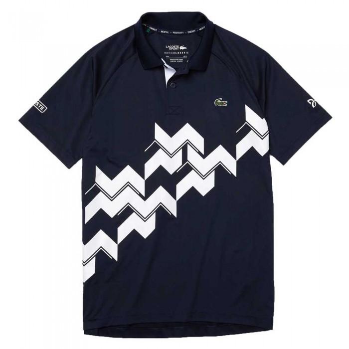 [해외]라코스테 Sport Djokovic Breathable Stretch Ribbed 7137685040 Navy Blue / White