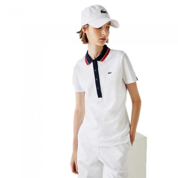 [해외]라코스테 Sport Stretch Golf 12137685105 White / Navy Blue / White / Red