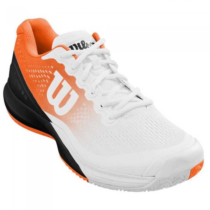 [해외]윌슨 Rush Pro 3.0 Paris Man12137687468 White / Shocking Orange / Black