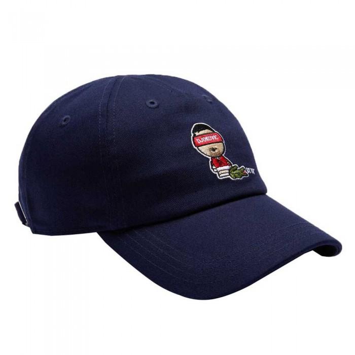 [해외]라코스테 Sport Novak Djokovic Cotton Strap 12137685168 Navy Blue / White