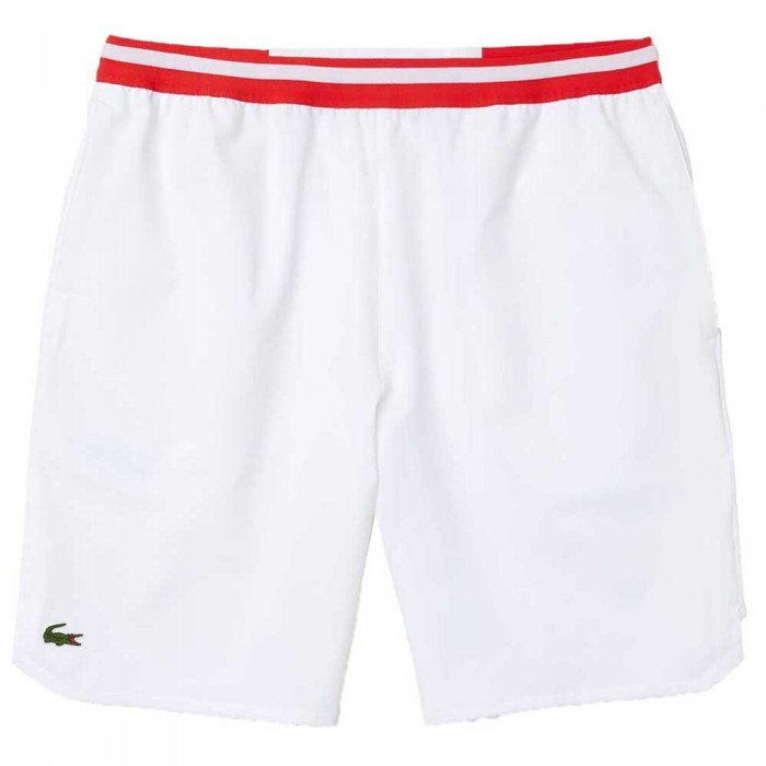 [해외]라코스테 Sport Contrast Stretch Taffeta 12137685080 White / Red