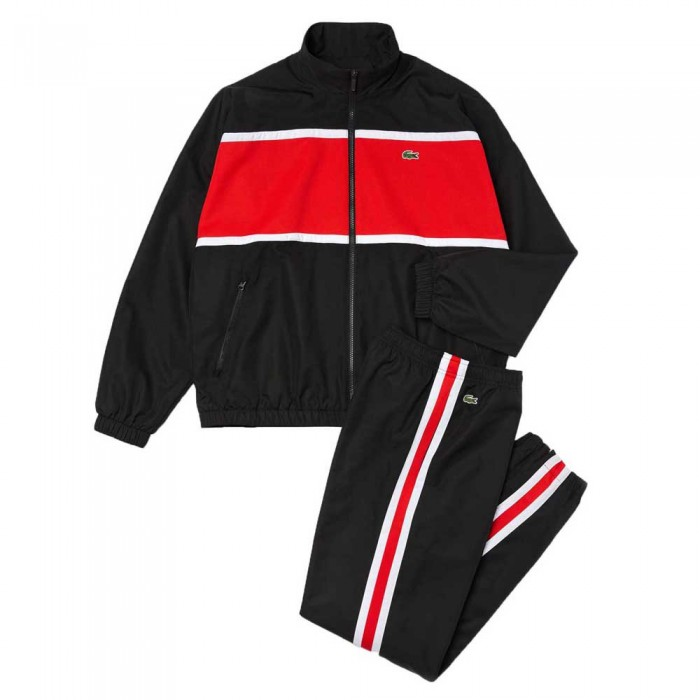 [해외]라코스테 Sport Loose Colourblock 12137685350 Black / Red / White
