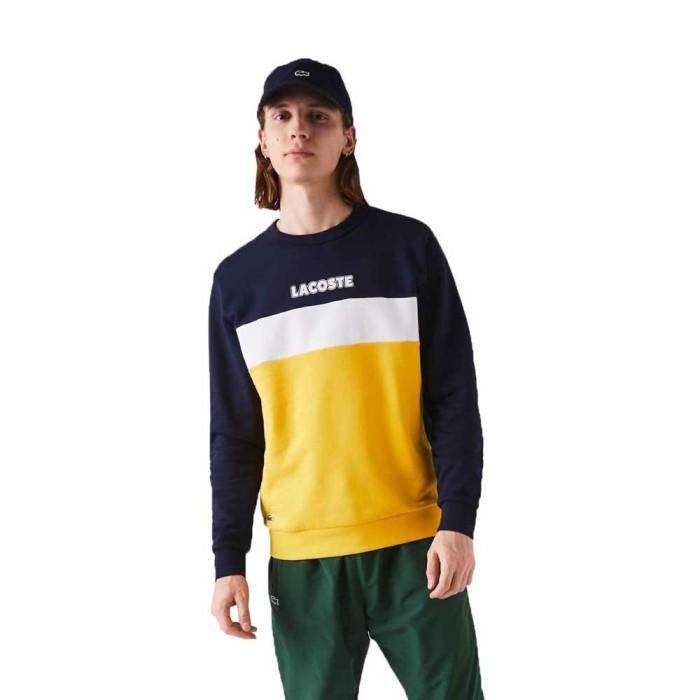 [해외]라코스테 Sport Crew Colourblock 12137685224 Navy Blue / Yellow / White