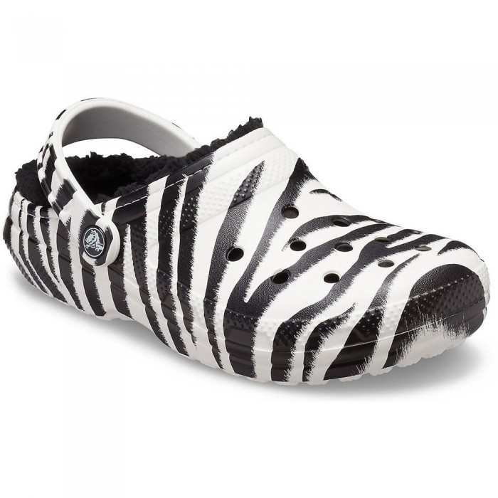 [해외]크록스 Classic Lined Animal Print Man14137684592 Black / Zebra Print