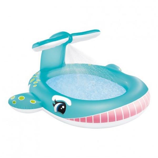 [해외]인텍스 Inflatable Whale Pool With Sprinkler 6137204401