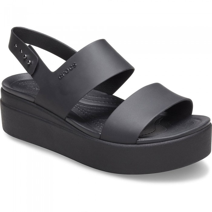 [해외]크록스 Crocs Brooklyn Low Wedge Woman6137684590 Black / Black