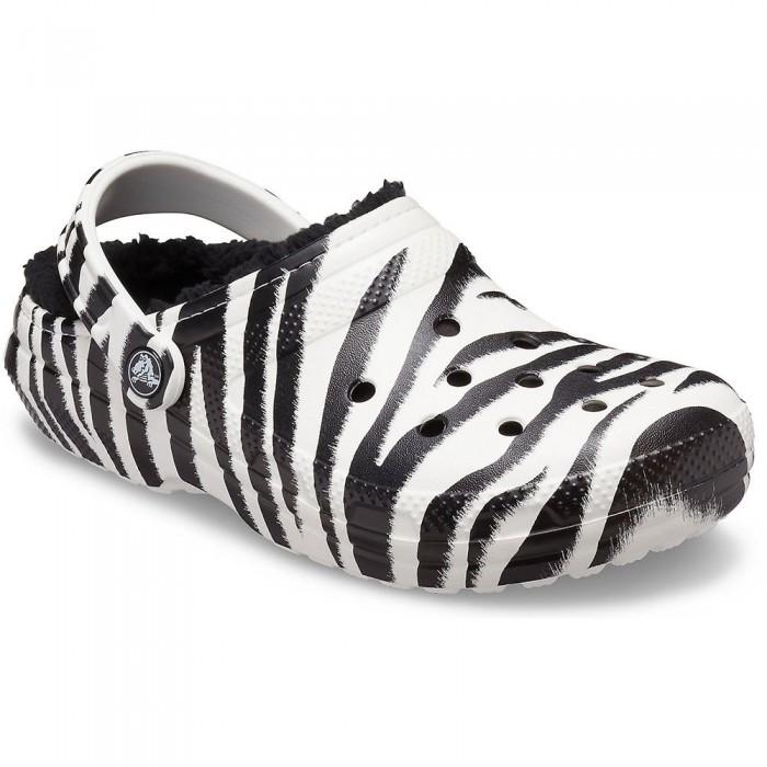 [해외]크록스 Classic Lined Animal Print Man6137684592 Black / Zebra Print