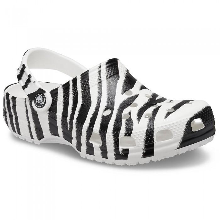 [해외]크록스 Classic Animal Print Man6137720112 White / Zebra Print