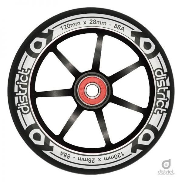 [해외]DISTRICT Dual Width Core Wheel 14137746370 Black / White