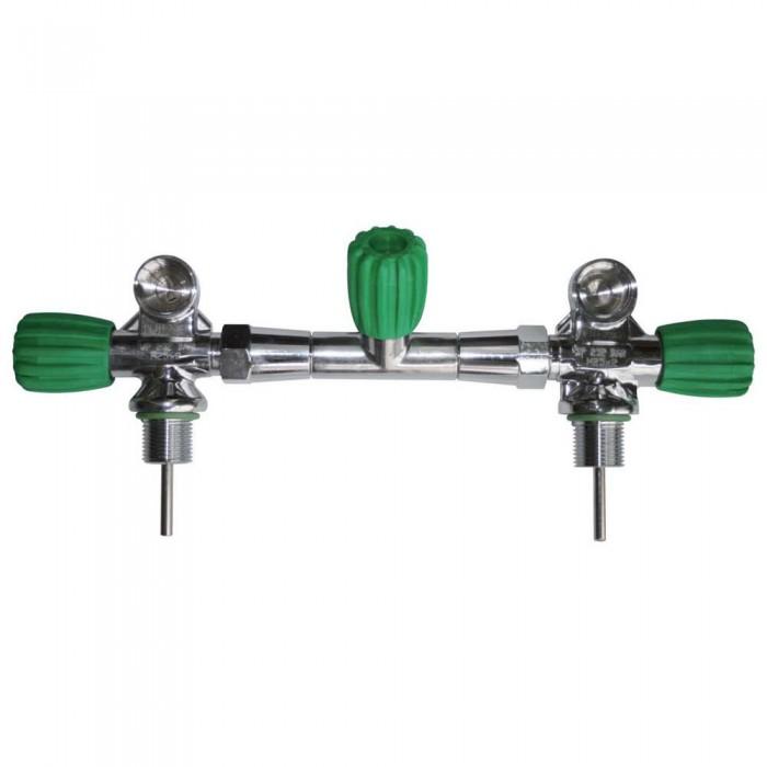 [해외]OMS Complete Isolation Manifold EU Nitrox Up To 230 Bar 12/15/16/18/20L 10137739618 Silver / Green