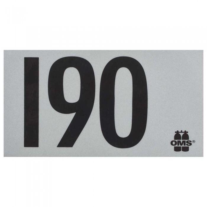 [해외]OMS Mod Decal 190 10137739651 White / Black