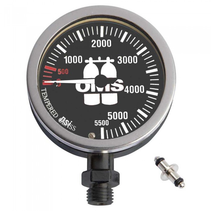 [해외]OMS Master SPG 0-5500 PSI 63 mm 10137739562 Silver / Black